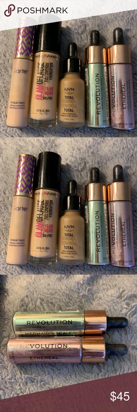 Tarte concealer, makeup revolution, foundation Lot Tarte