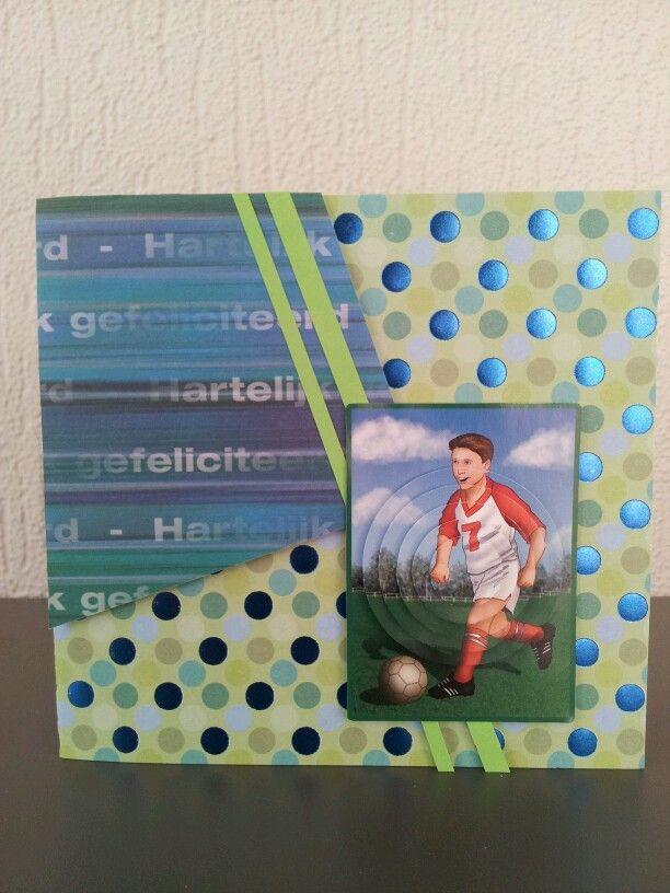 Gefeliciteerd Verjaardag Voetballer Jongen Kinderkaarten Pinterest