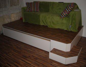 Podest mit Bett BettPodest  Wohnzimmer  Podest Podest kinderzimmer und Ausziehbares bett