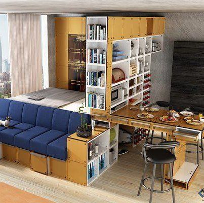 Twelve Great Looking Sofa Beds That Won T Cramp Your Style Studio Apartment Decorating Apartment Room Small Studio Apartment Decorating