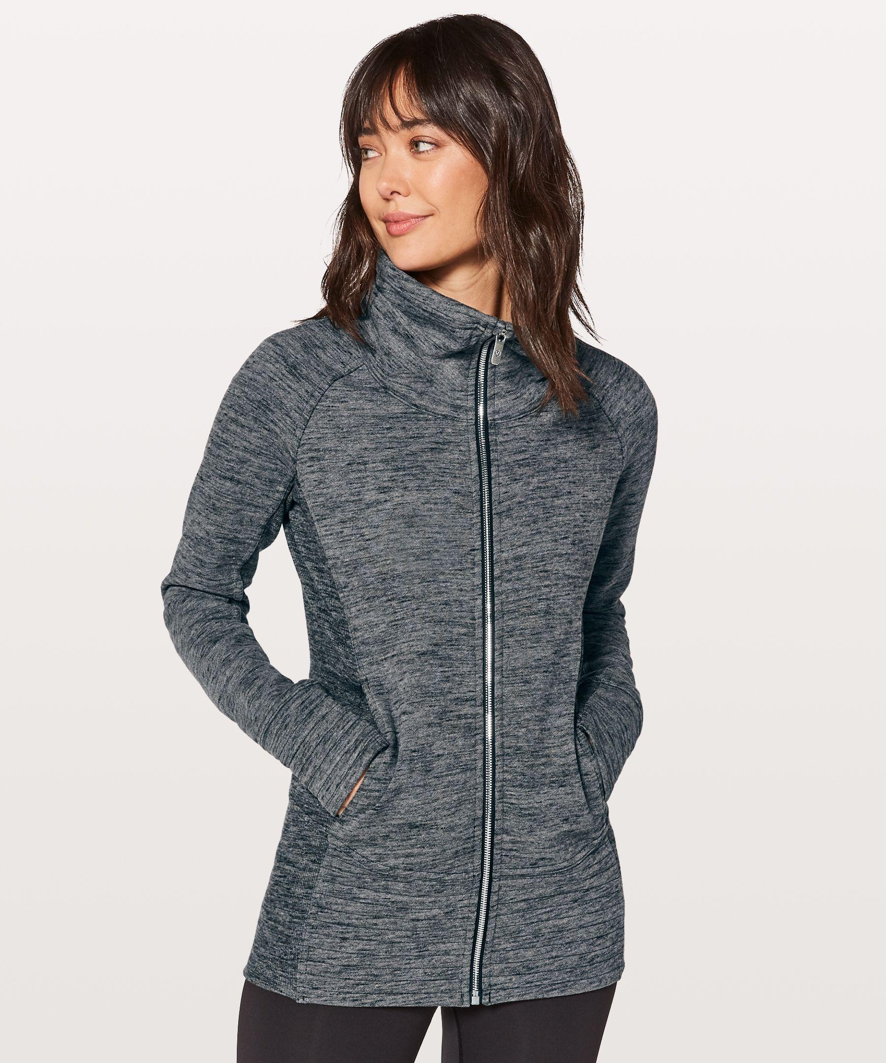Radiant Jacket Ii Heathered Core Grey Slim Fit Hoodie Activewear Jackets Jackets [ 2160 x 1800 Pixel ]