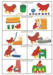 """6 images séquentielles de """"Poule Rousse"""", de Lida et"""