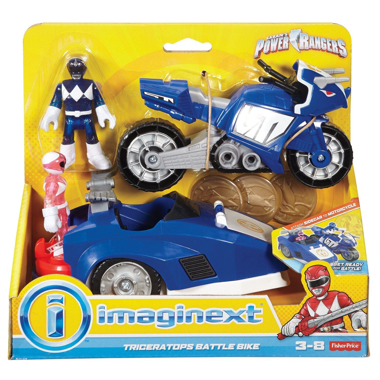 Imaginext Power Ranger Triceratops Battle Bike New