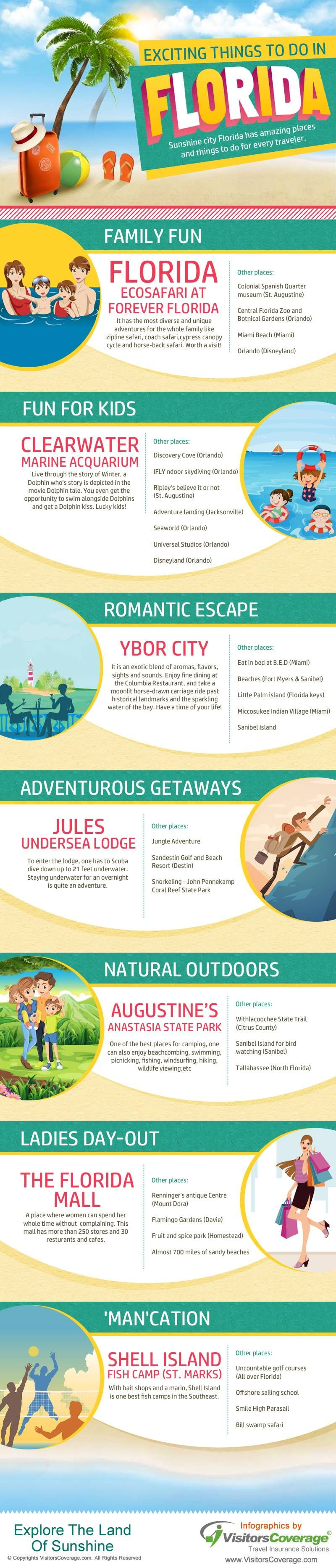Exciting Things To Do In Florida Infographic Things To Do Florida Traveling By Yourself