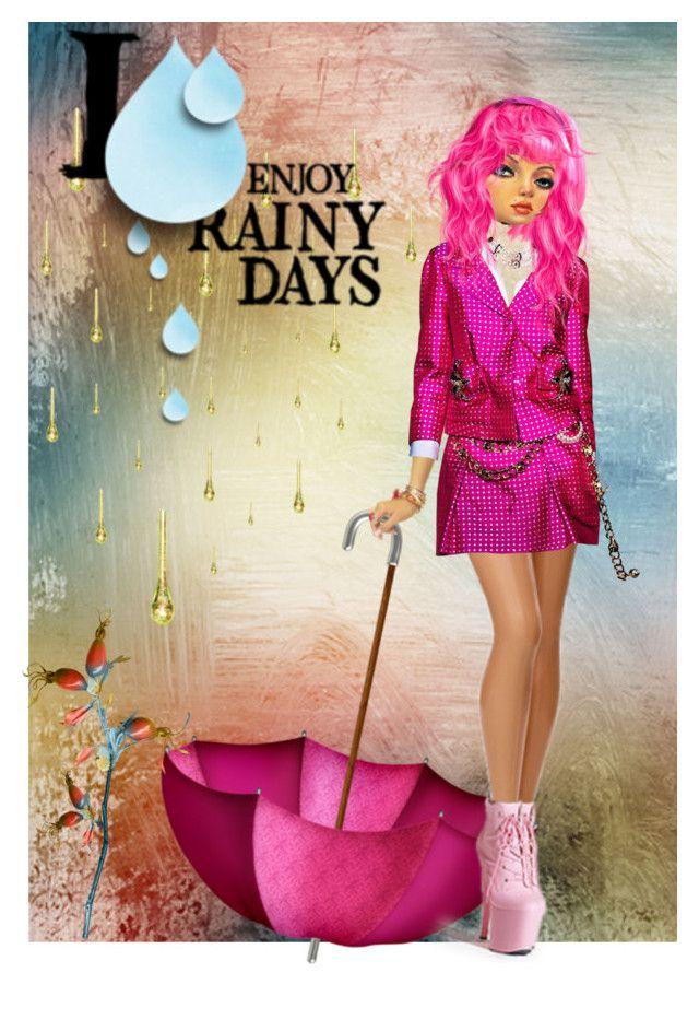 """I enjoy rainy days"" by jesslea85 ❤ liked on Polyvore featuring art"