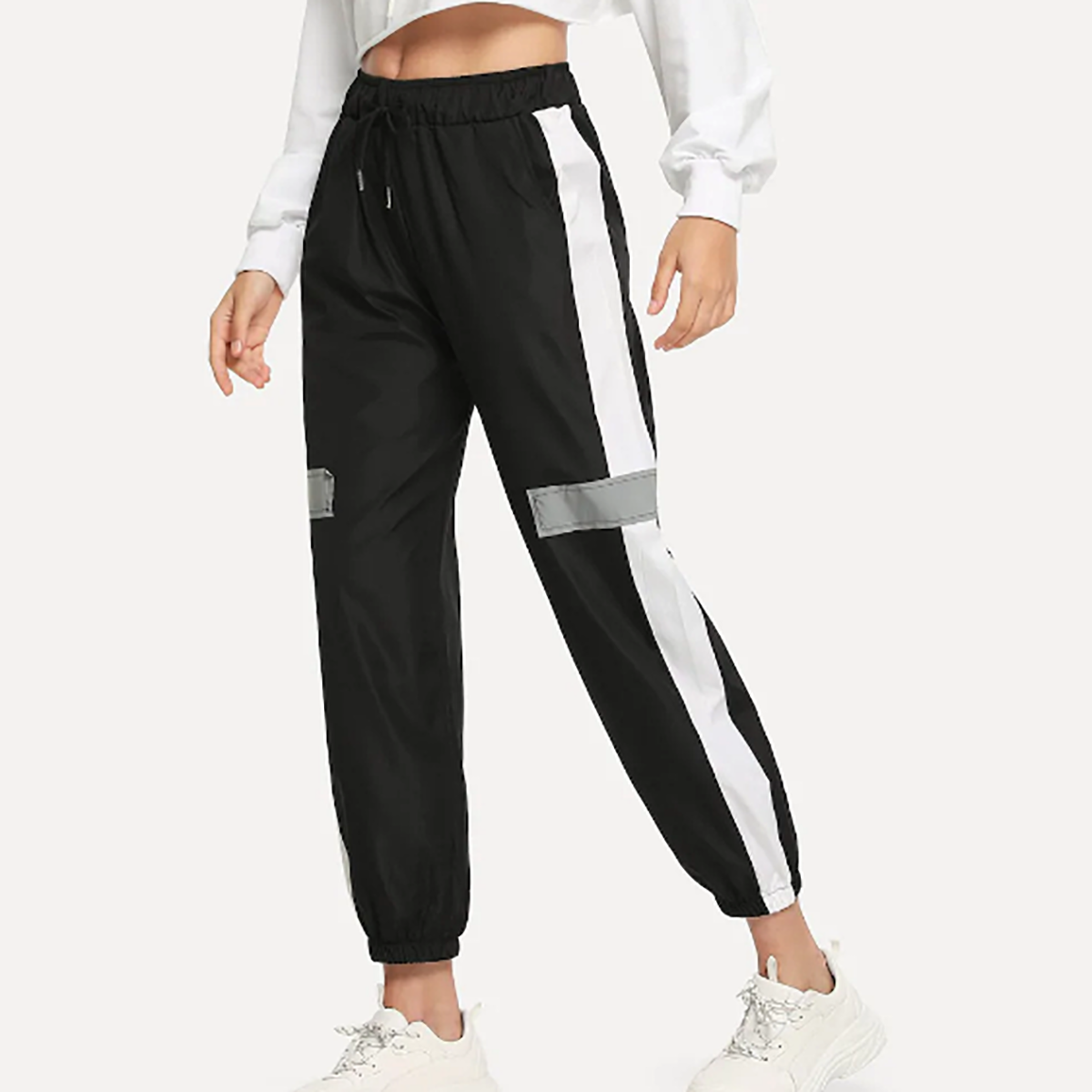 Fashion Plain Slim Casual Pants