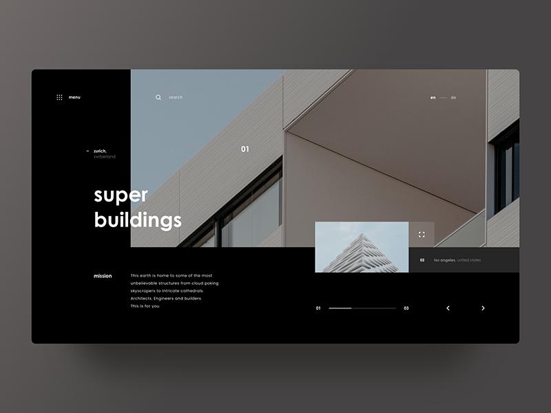 Super Buildings Website Design Layout Modern Web Design Minimal Web Design