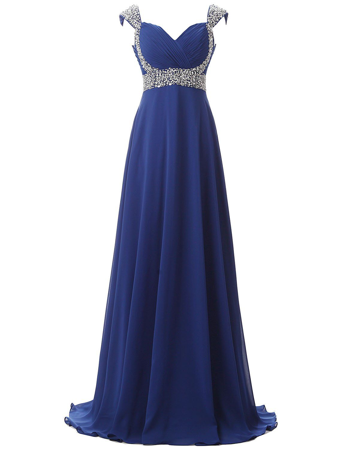 Clearbridal womens long royal blue prom dress evening gown with