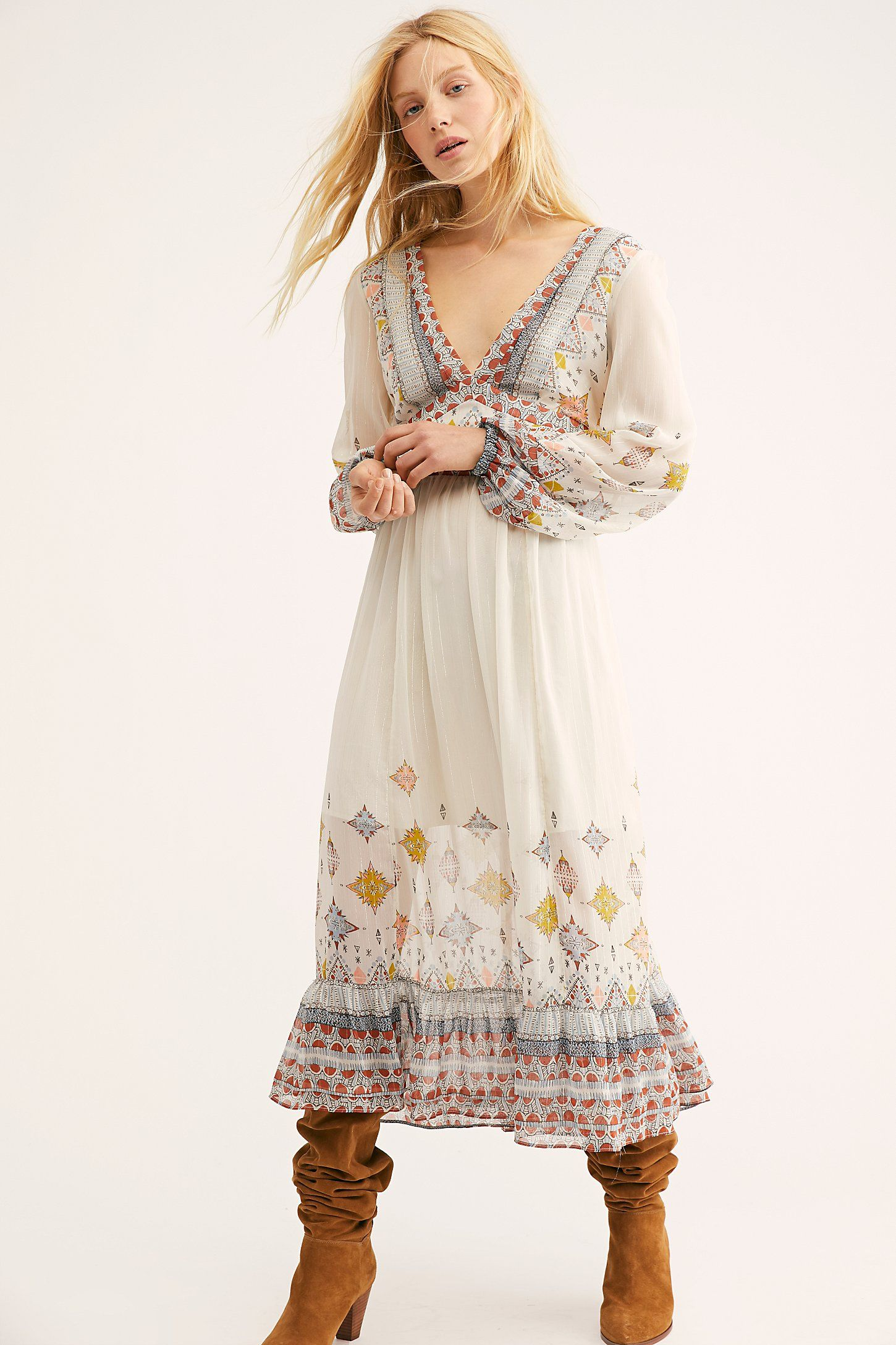 0fad321fa411c Wishing Well Midi Dress in 2019 | Garb | Boho dress, Maxi skirt ...
