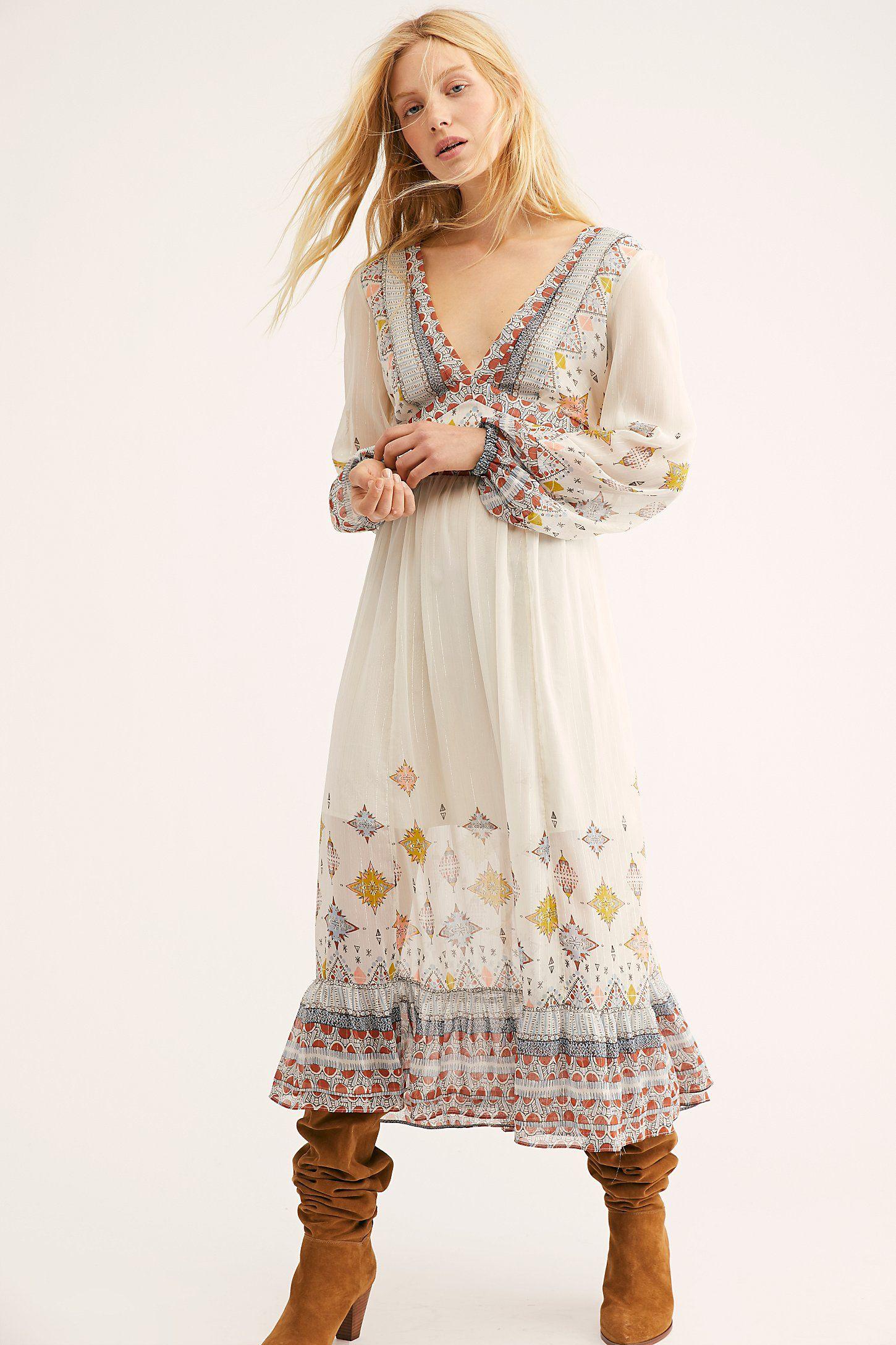 46584281dd509 Wishing Well Midi Dress in 2019 | Garb | Boho dress, Maxi skirt ...