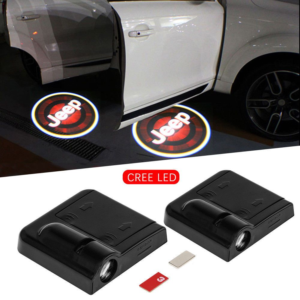 2x LED Courtesy Door lights Step Ghost Shadow laser projector for Cadillac