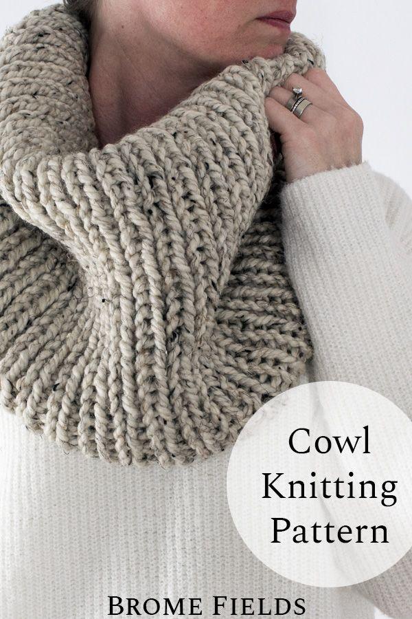 Grab this Beginner Women's Cowl Knitting Pattern. This ...