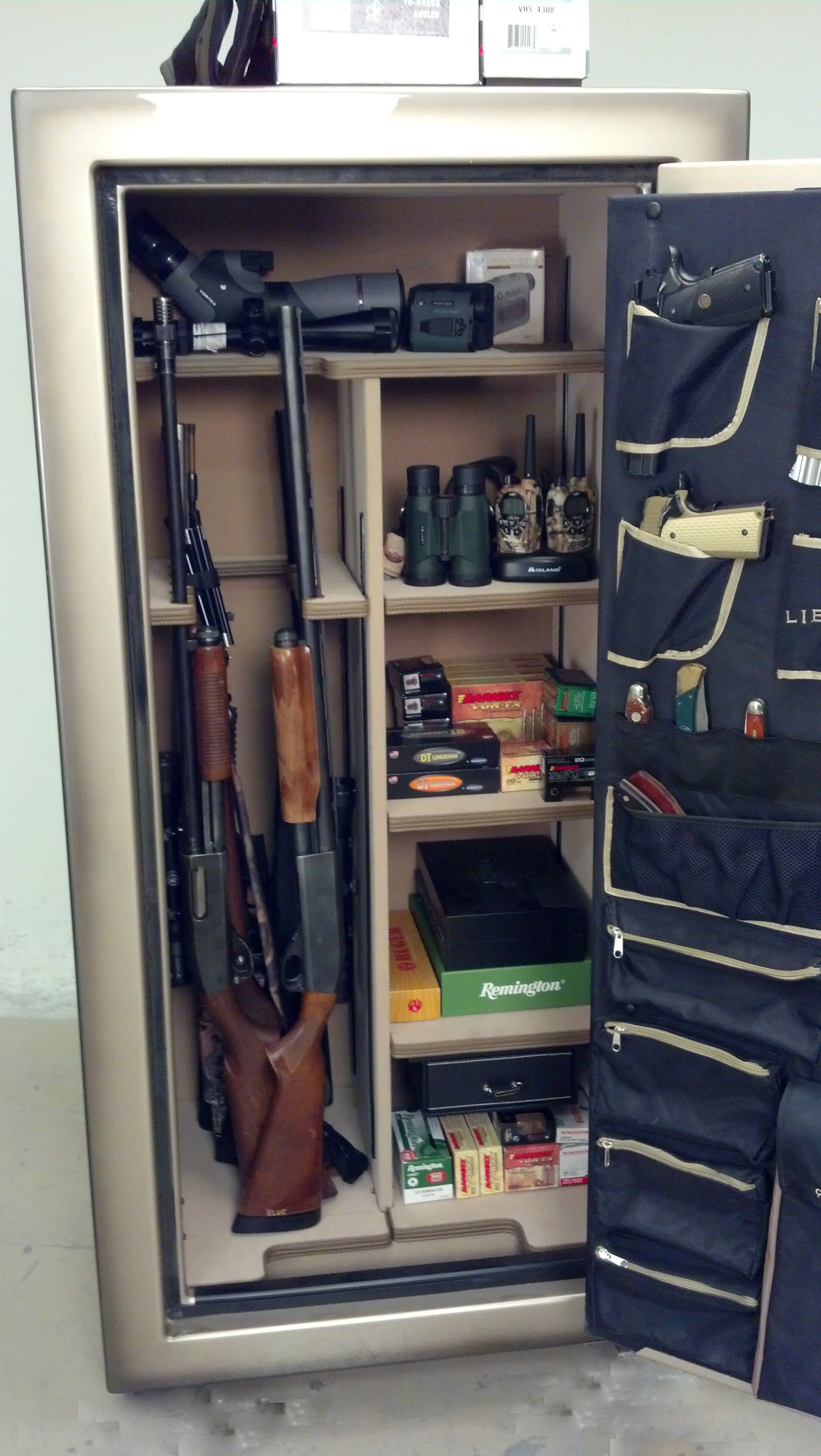 Liberty Safe Gun Safe Hunting gear Vortex optics Midland Radios