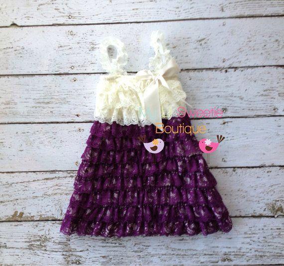 Dark purple color toddler dress