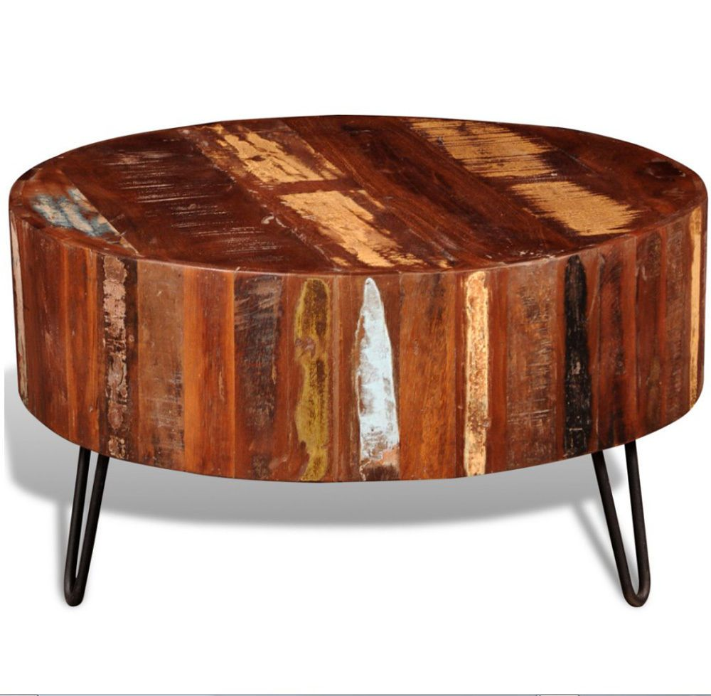 Industrial Coffee Table Reclaimed Wood Furniture Antique Living Room Large Round Solid Coffee Table Coffee Table Wood Solid Wood Coffee Table [ 979 x 1000 Pixel ]
