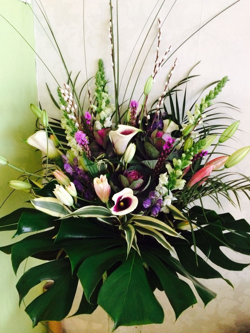 Image Result For Creating Floral Arrangements With Lilies Sympathy