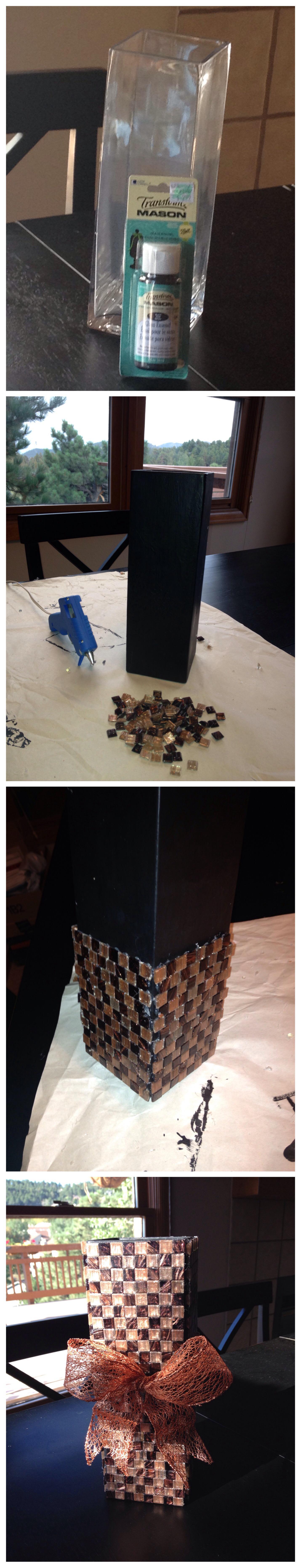 Materials: transform mason glass enamel paint (hobby lobby $2 99