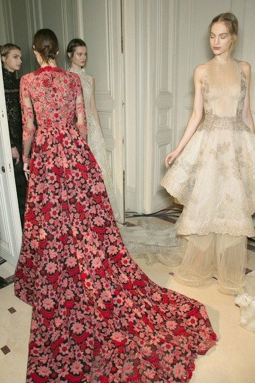 Backstage at Valentino Haute Couture, Spring 2013