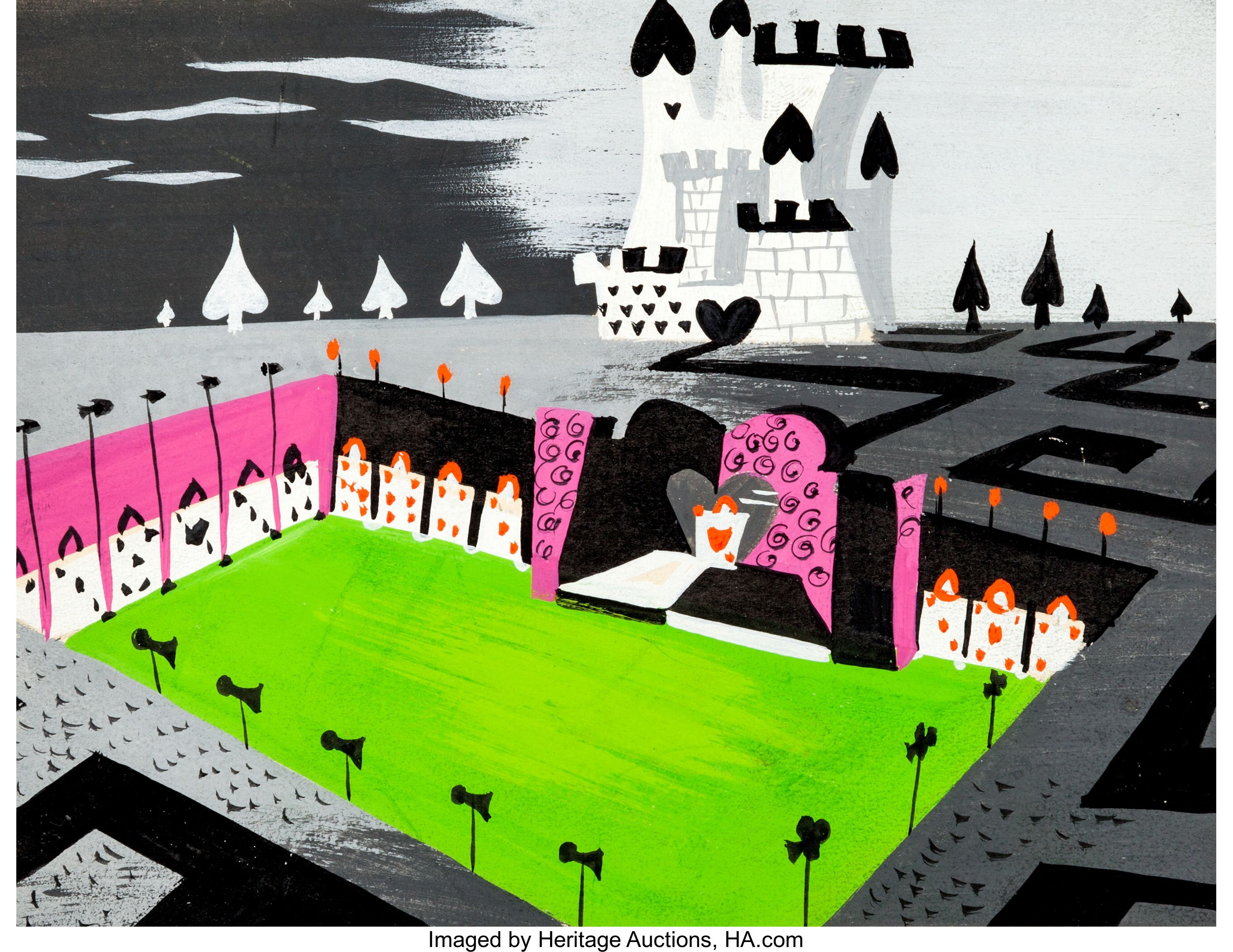 4 CONCEPT ART BY MARY BLAIR NICE POSTCARD ALICE IN WONDERLAND
