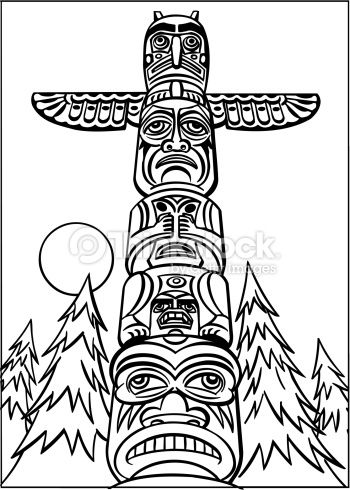 Totem Pole Line Drawings Google Search Native American Totem
