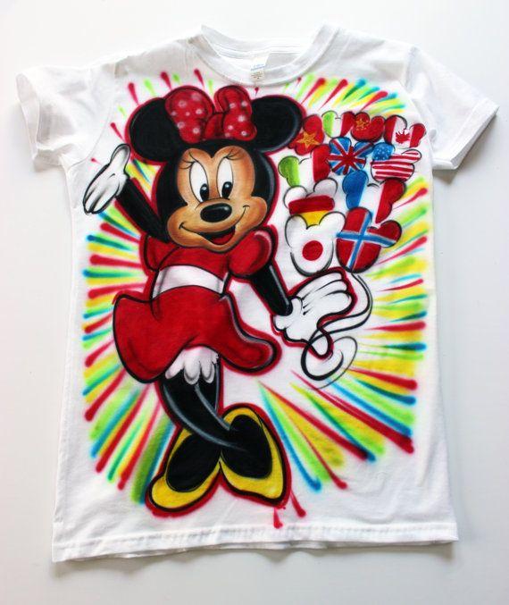 d84c3f97b Airbrush Minnie T shirt Personalized Name by TheAmazingAirbrush, $29.95