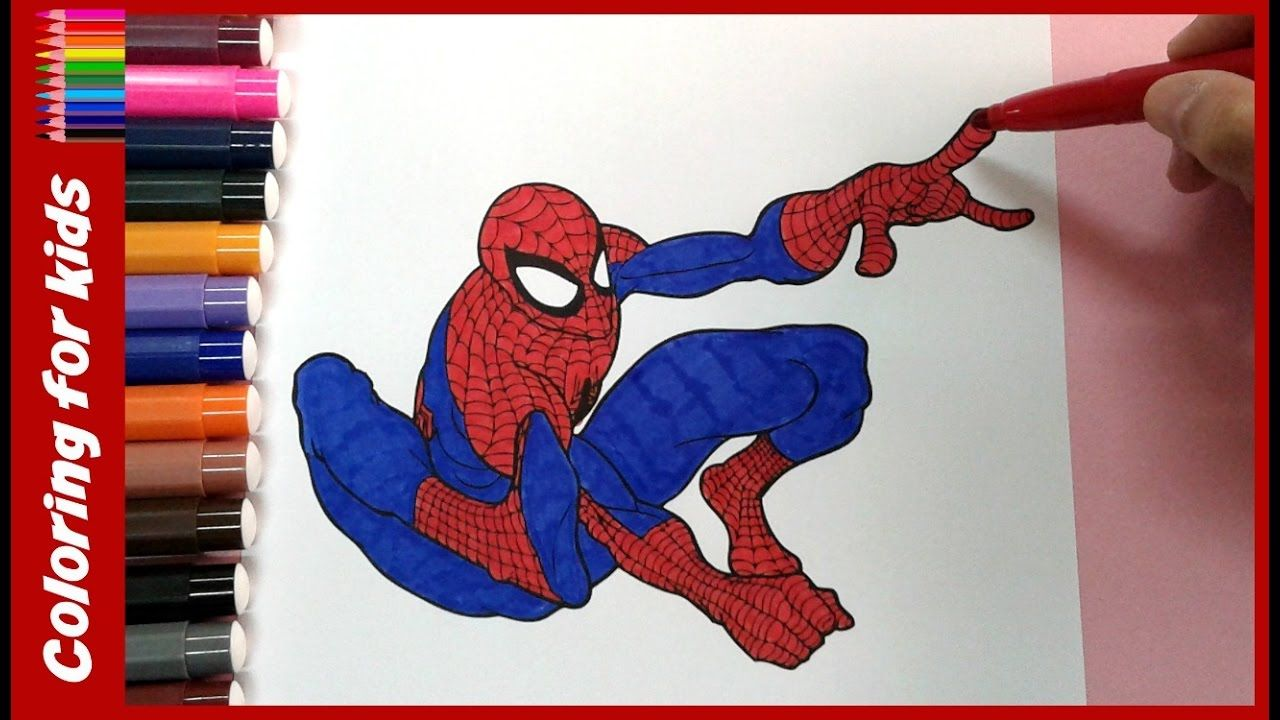 Colouring pages for kids coloring amazing spiderman colouring