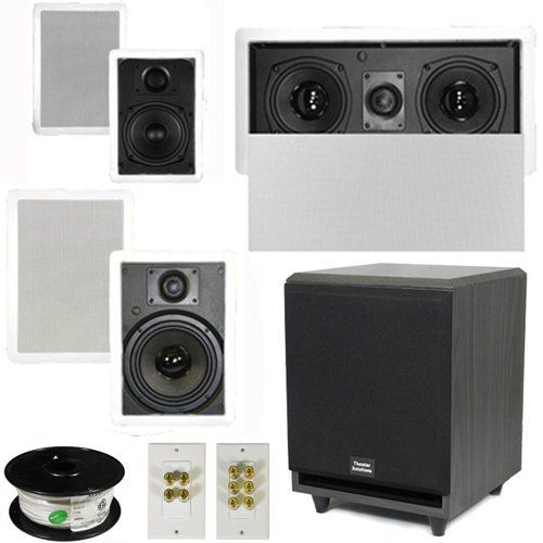 5 1 Home Theater 4 Speakers Set With Center 8 Powered Sub And