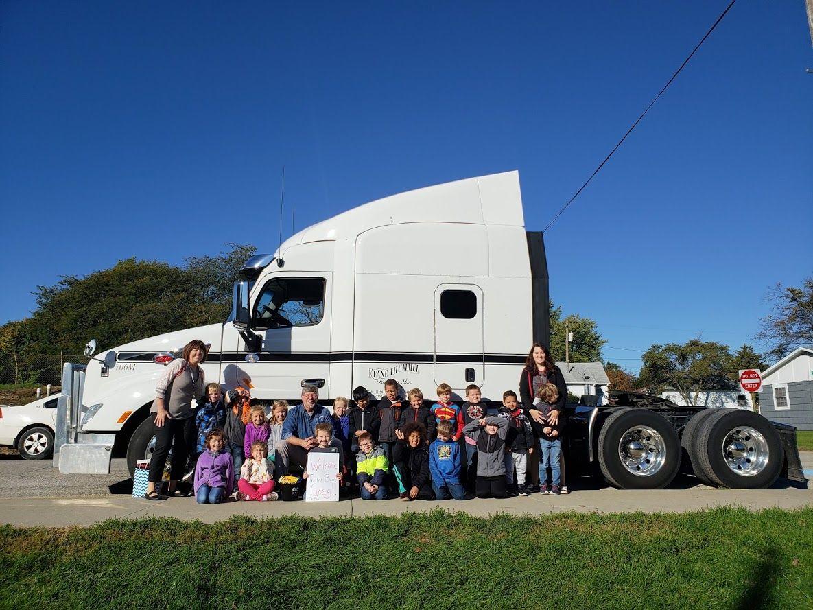 Trucker Buddy Greg with Mrs. Jobe's Kindergarten class