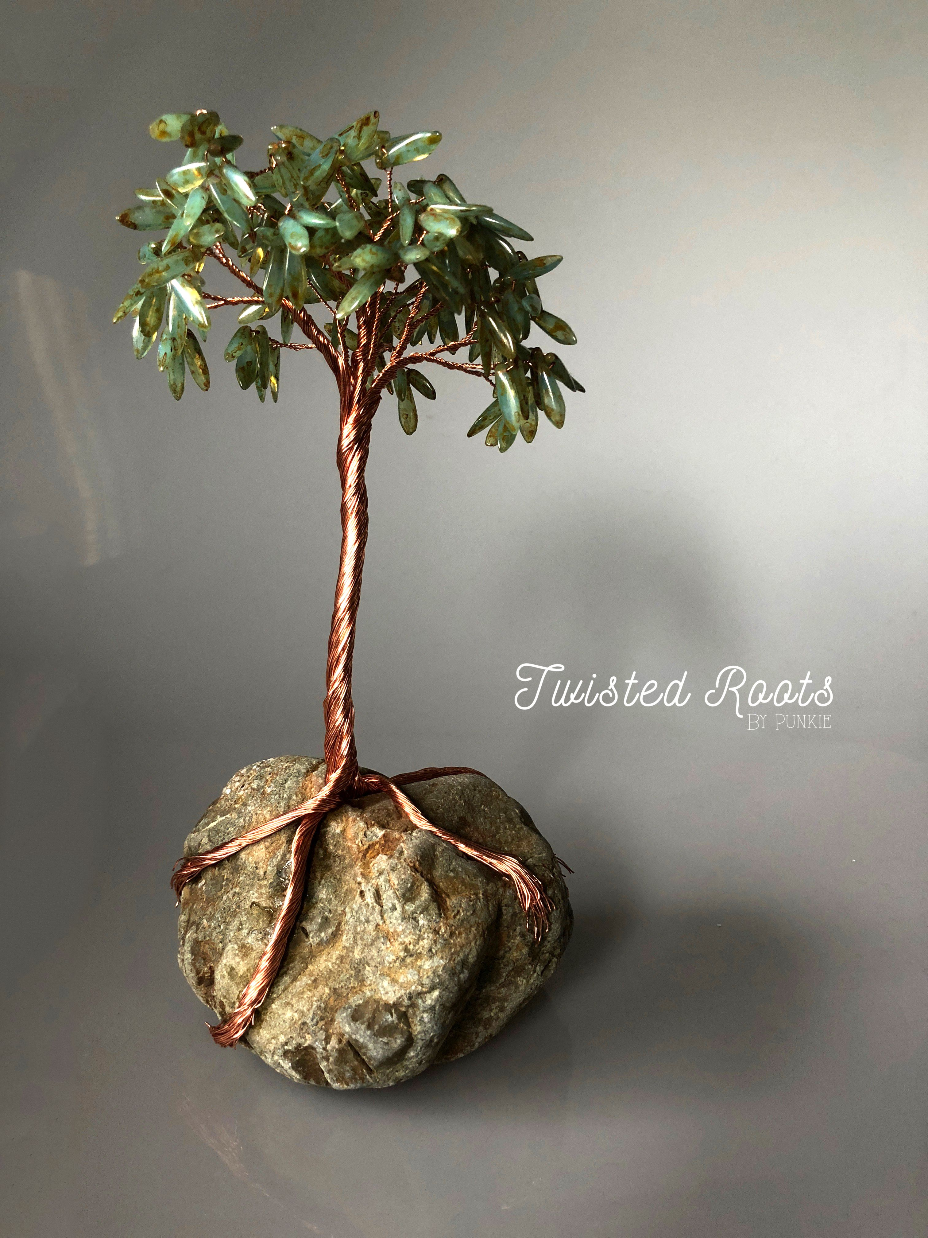 Handmade Copper Wire Tree Sculpture Sculptures Rhode Island Wiring Handcrafted And One Of A Kind These Cool Oblong Shaped Green