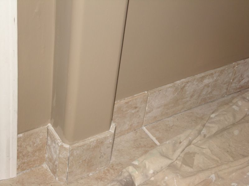 tile baseboards bathroom baseboard