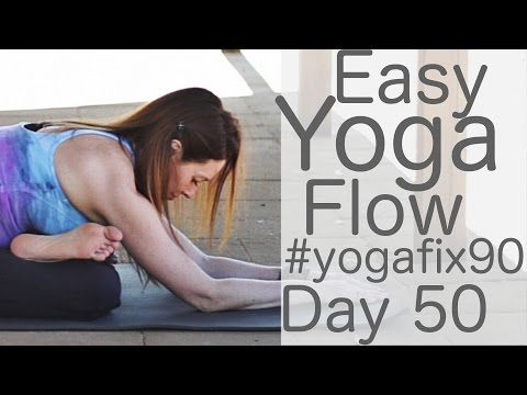 easyish flow class day 50 yoga fix 90 with lesley