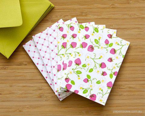 Strawberry Patch Card Box Set