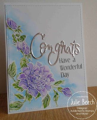 Crafted by Jules: Congrats, have a Wonderful Day, take two!