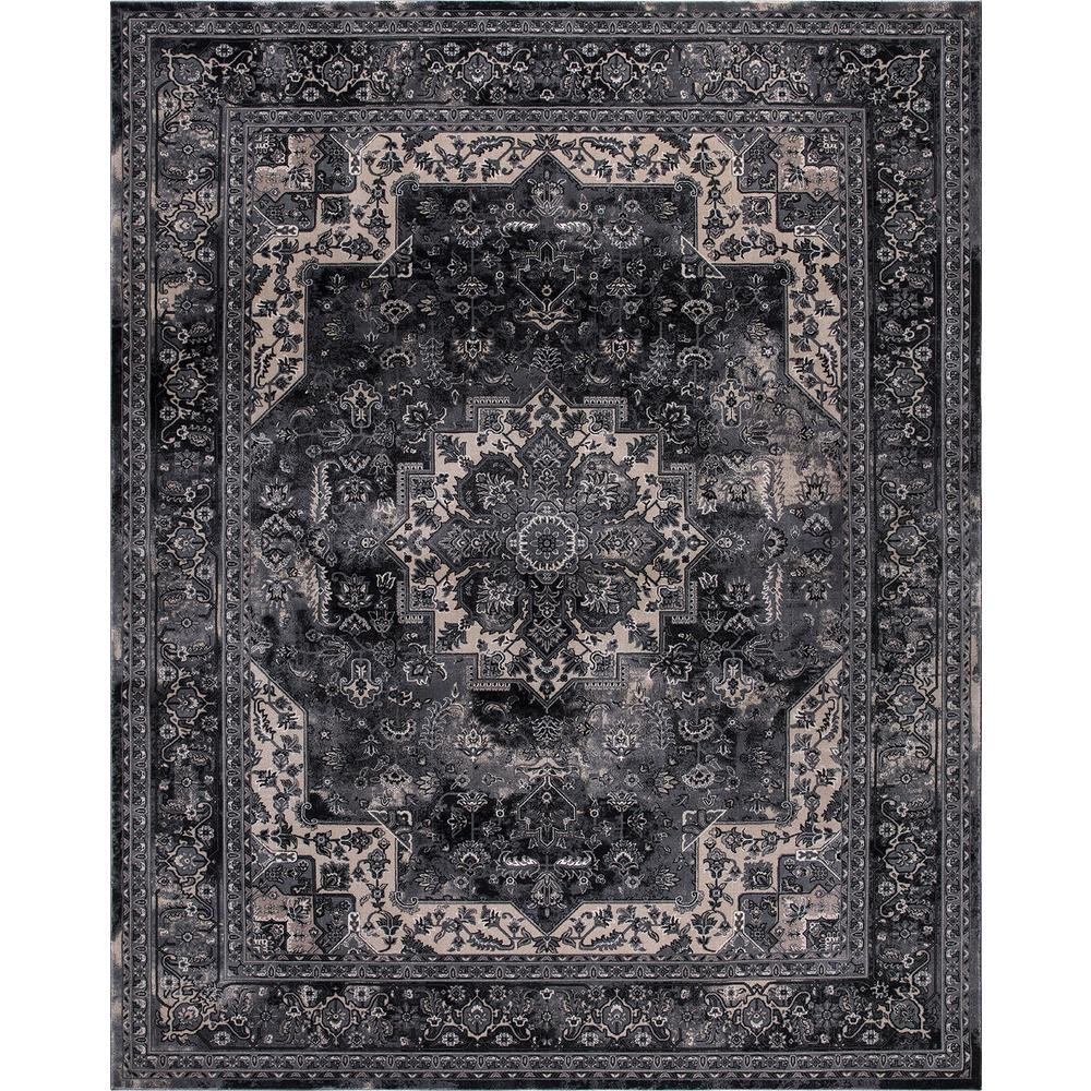 Home Decorators Collection Angora Anthracite 9 Ft X 13 Ft