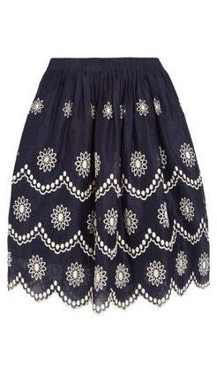 Daisy Dots Broderie Anglaise Voile Skirt