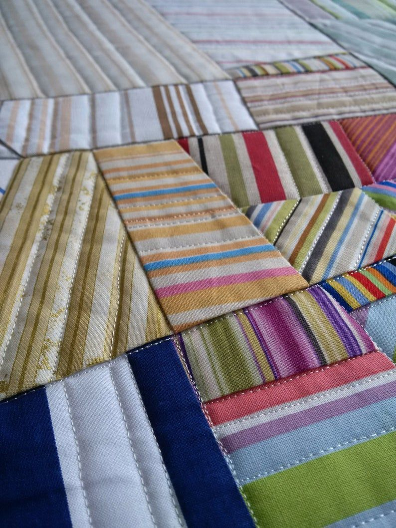 Contempopary Quilt For Sale Scandinavian Style Modern Art Wall Striped Quilt Quilts For Sale Quilts