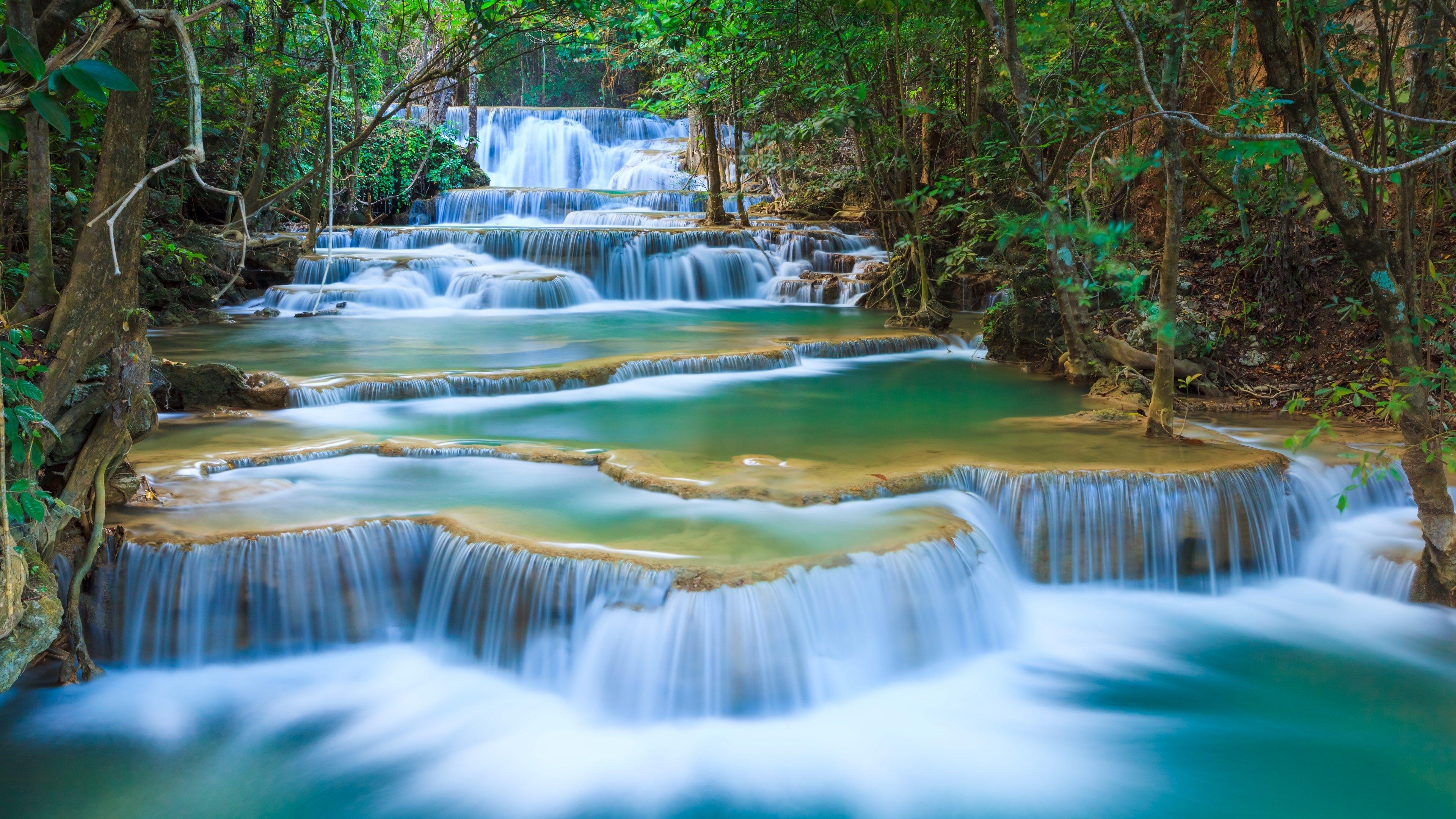 #4k erawan waterfall (3840x2160)