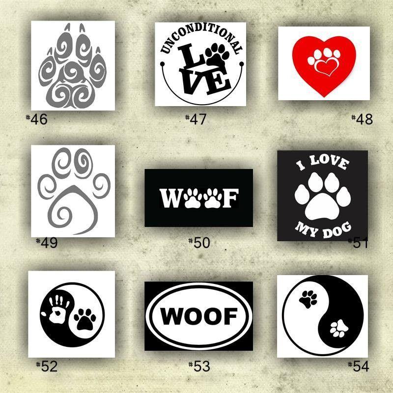 Paw print vinyl decals 46 54 custom car window stickers personalized vinyl decals paw prints sticker custom vinyl decal