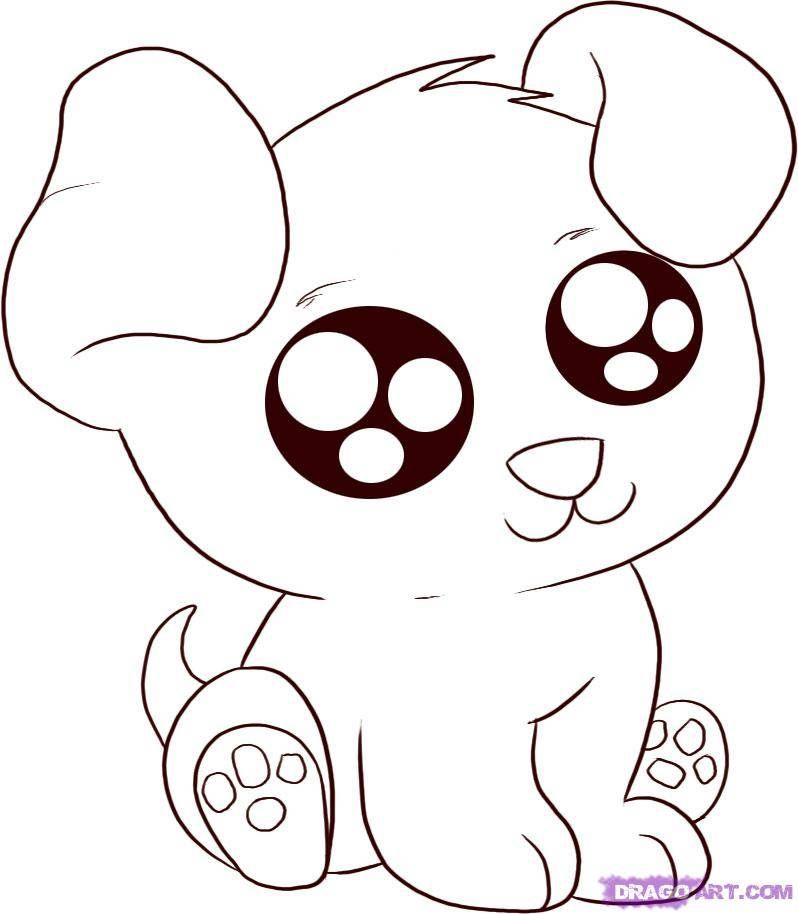 Cute Animal Coloring Pages Anime Animals Coloring Pages