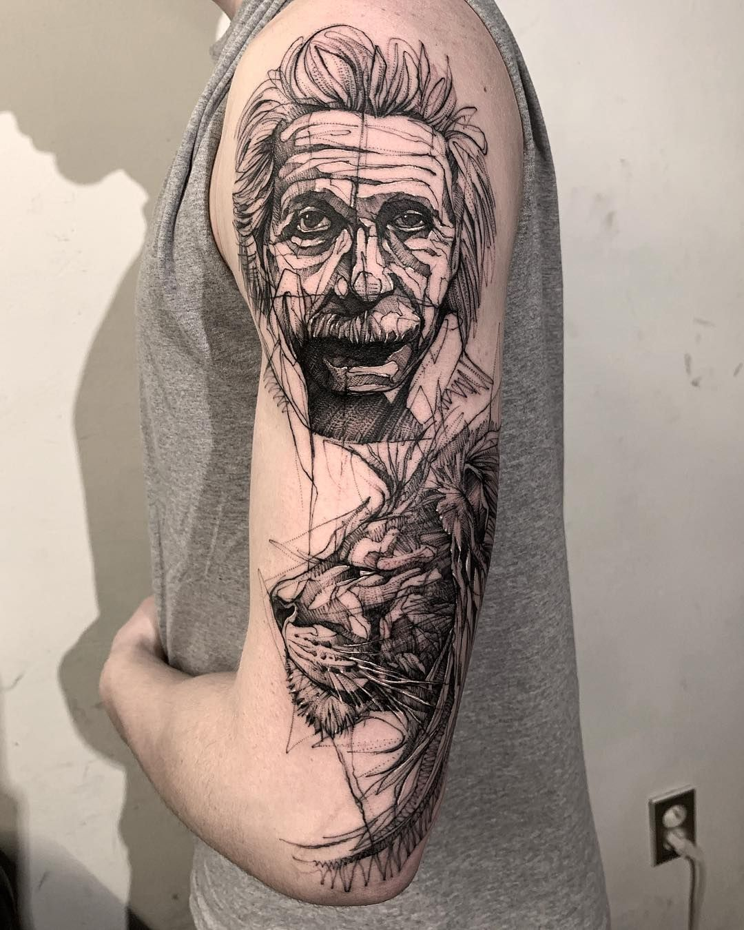Image May Contain One Or More People Tattoos Portrait Tattoo
