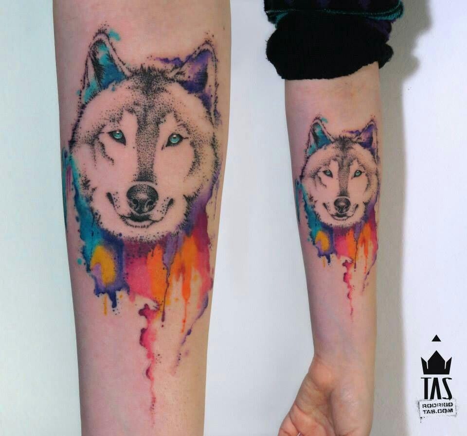 Tattoo Aquarela E Pontilhismo De Rodrigo Tas Tatuajes Perros Tatuajes De Animales Tatuaje De Perro