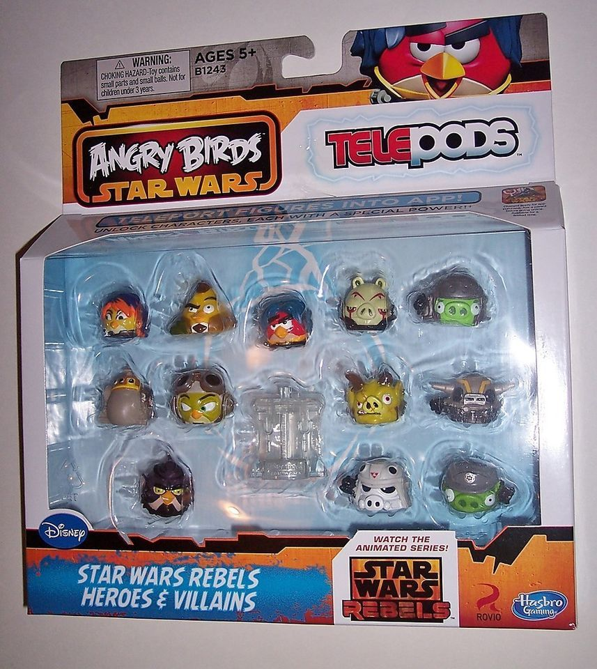 Star Wars Angry Birds Rebels Heroes And Villains Telepods 12 Pack