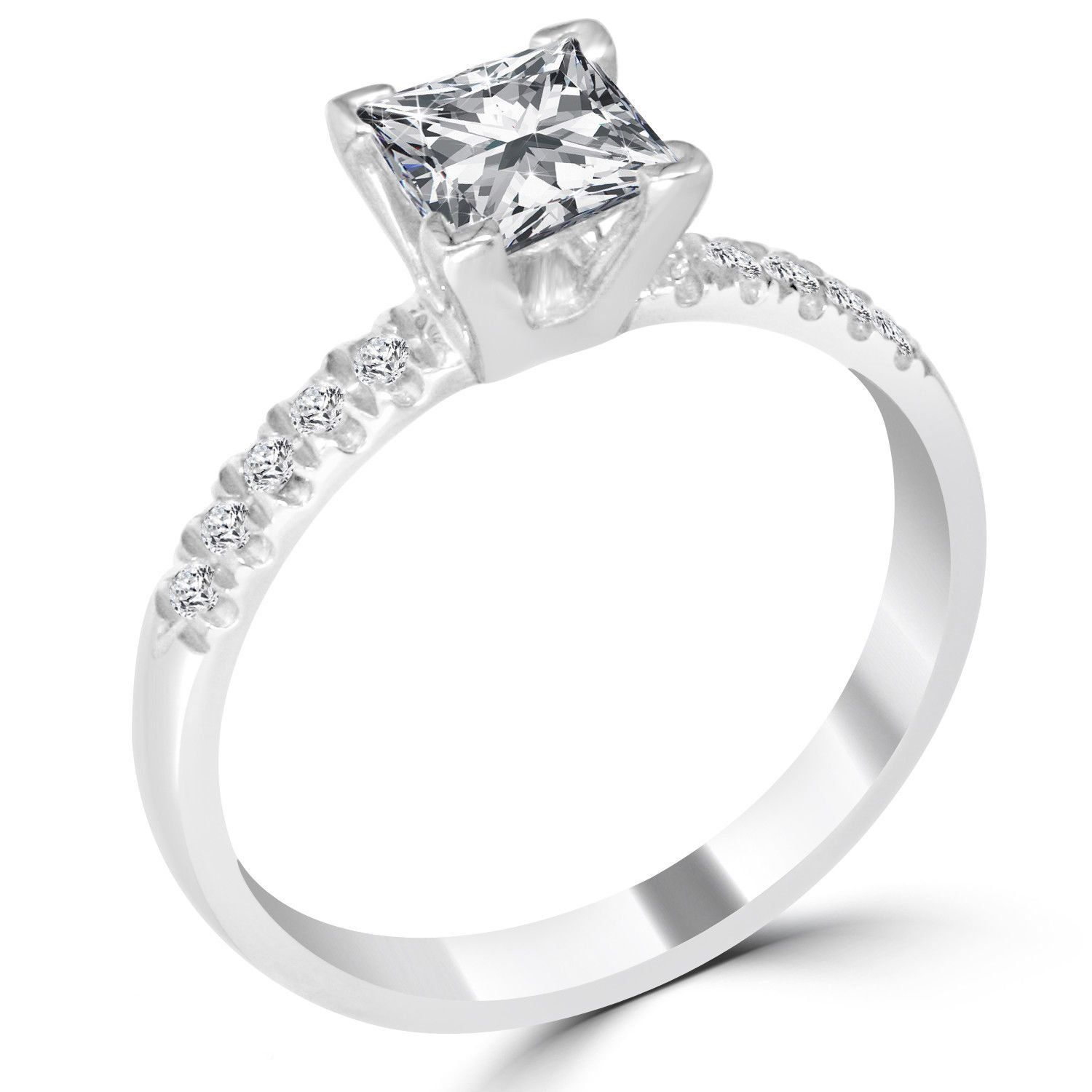 ct princess cut vsf diamond engagement ring k white gold in