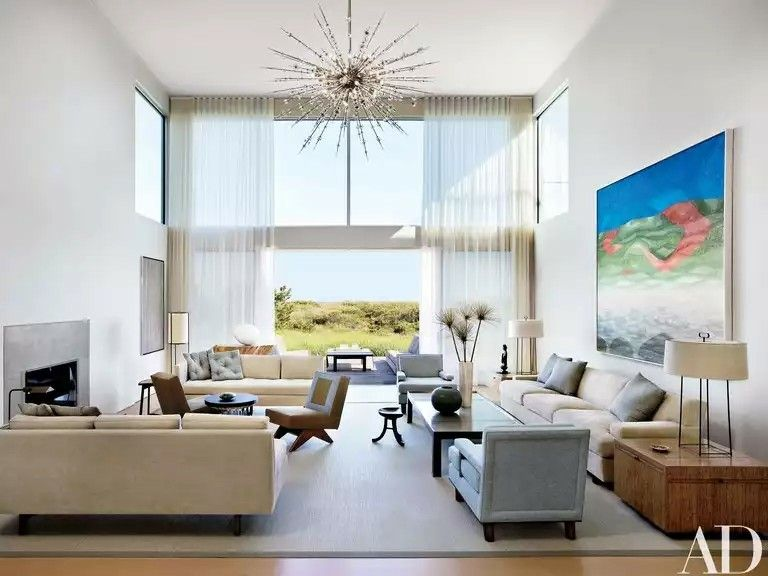 Disign interior #sala de estar#convidativa#retiro sereno! galeria - led deckenbeleuchtung wohnzimmer