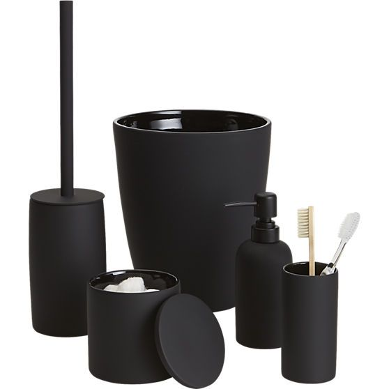 Rubber Coated Black Bath Accessories Black Toilet Black Bath