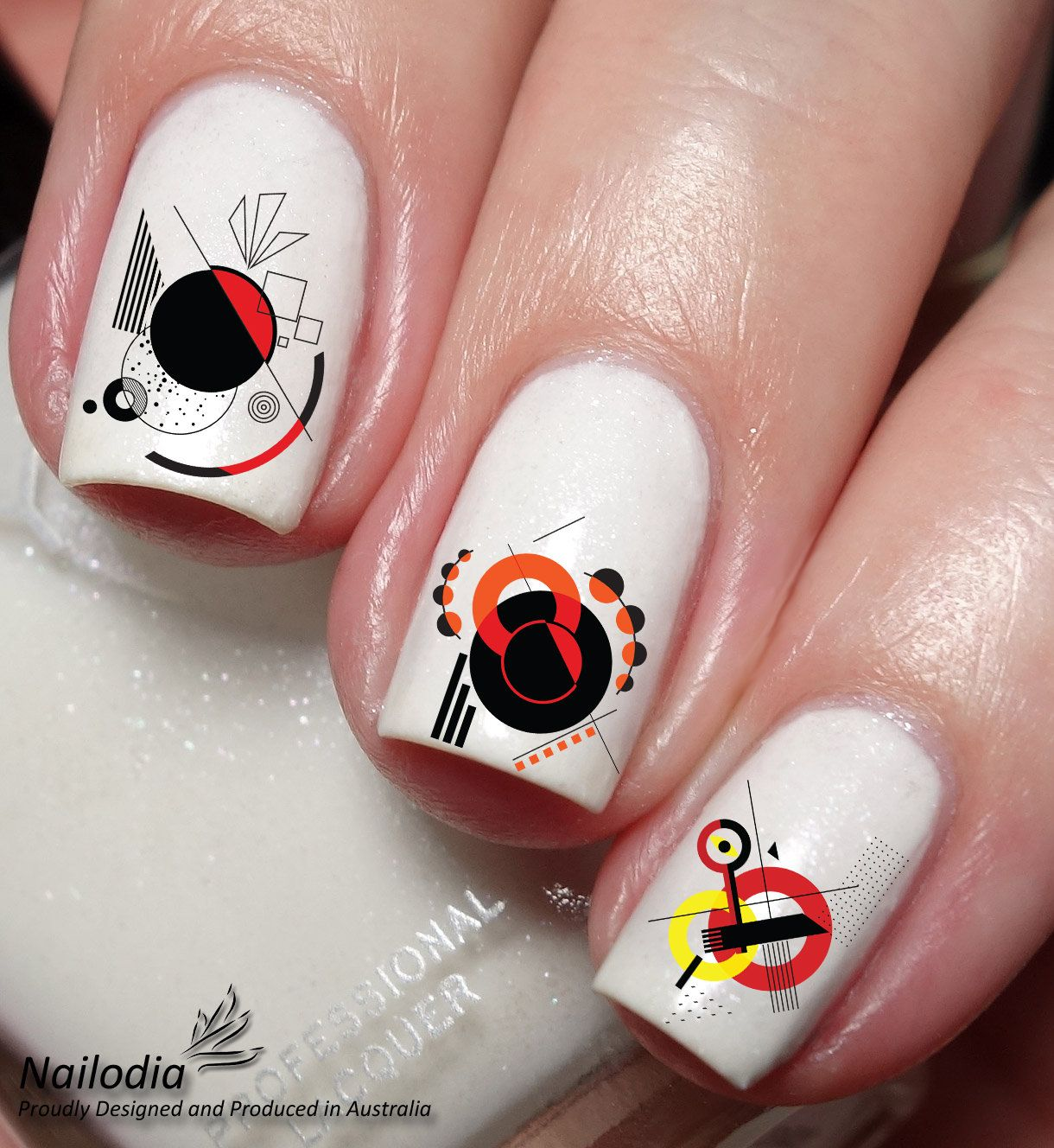 Abstract Geometric Nail Art Sticker Waterslide Decal Wrap