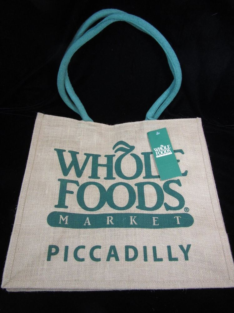 Whole Foods London Piccadilly Tote Bag Jute England UK