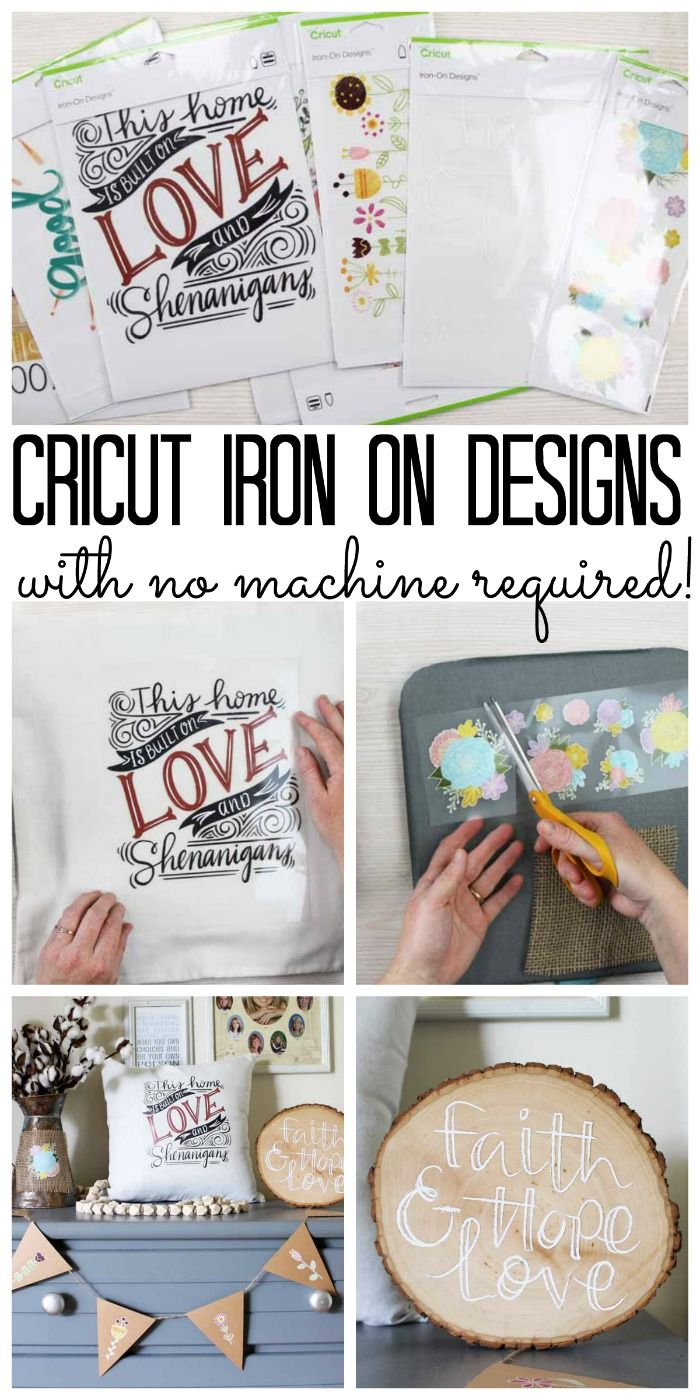How To Use Cricut Iron On Designs Crafts And More Pinterest