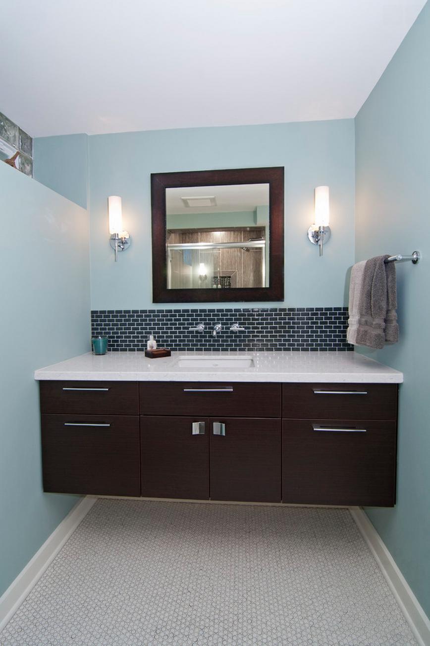 Bathroom vanities minneapolis - Living And Bathroom Color Palette A Modern Lower Level Modern Bathroom Minneapolis By White Crane Construction