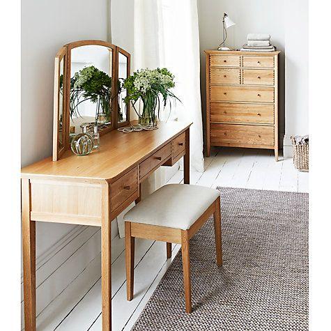 Buy John Lewis Essence Dressing Table Oak Online At Johnlewis Com
